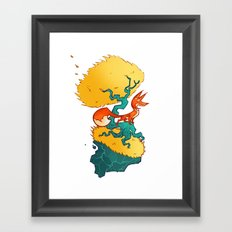 Bad Mountain Brewery Framed Art Print