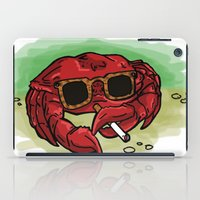 cigarette iPad Cases featuring Cigarette Crab by Victoria Morris