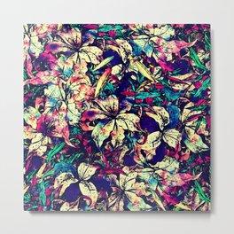 Watercolor Dragon Lilies  Metal Print