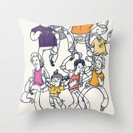 8 Tees Party! Throw Pillow