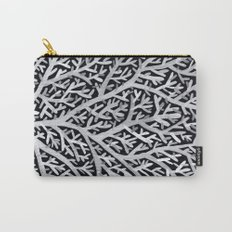 Fan Coral – White Ink on Black Carry-All Pouch