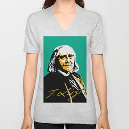 Franz Liszt (1811-1886) in 1886 (digital 2) Unisex V-Neck