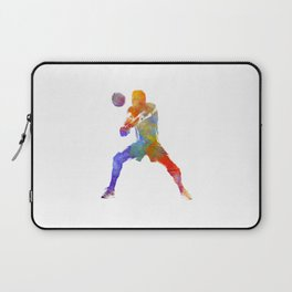 Volley ball player man 02 in watercolor Laptop Sleeve