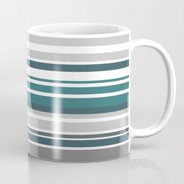 Turquoise Stripes Seamless Pattern Coffee Mug