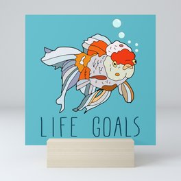 Life Goals Mini Art Print
