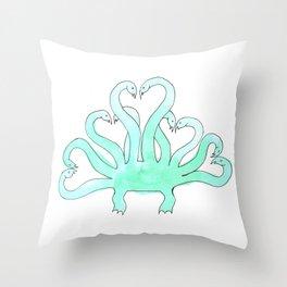 Hydra Hearts Throw Pillow
