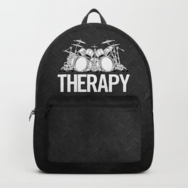 Drummers Therapy Drum Set Cartoon Illustration Backpack