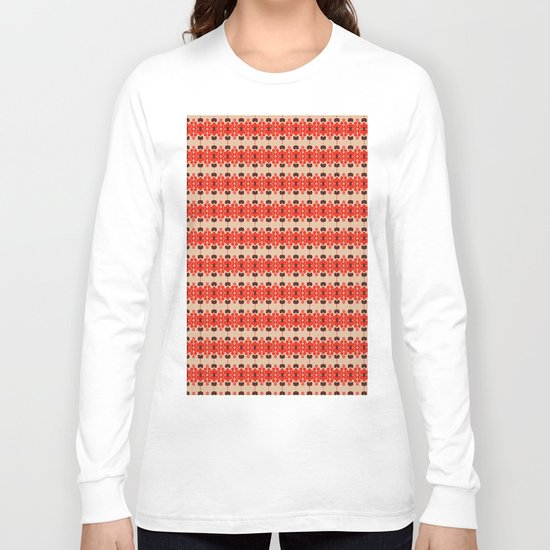 Red pattern rouge 6 Long Sleeve T-shirt