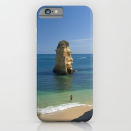 Rock on the beach, the Algarve coast, Portugal iPhone Case