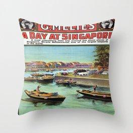 Vintage poster - Singapore Throw Pillow