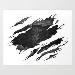 Bat-man BvS Ripped Symbol Art Print