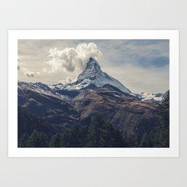 Distant Mountain Peak Art Print