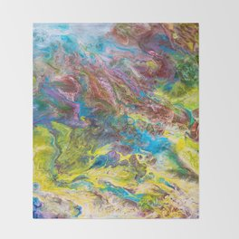 Calipso - Modern Abstract Throw Blanket