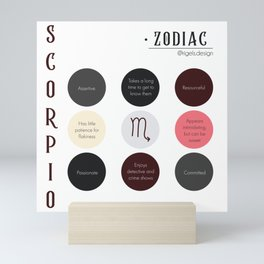 Scorpio Zodiac Sign Personality  Mini Art Print