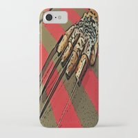 freddy krueger iPhone & iPod Cases featuring Freddy Krueger by Rachel Bradford