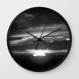Black and White Delight Wall Clock