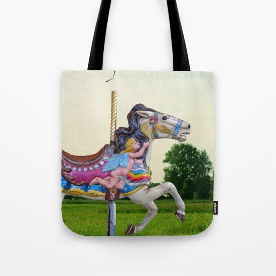 Wood horse Nature Tote Bag