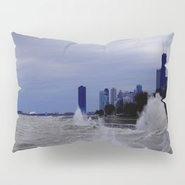 When Sandy Made Waves in Chicago #6 (Chicago Waves Collection) Pillow Sham