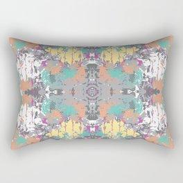Crazy hibiscus grey Rectangular Pillow