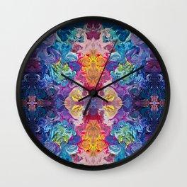 Aurora Swirls Wall Clock
