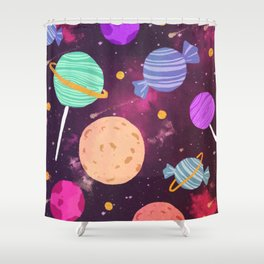 Sweet Planets Shower Curtain