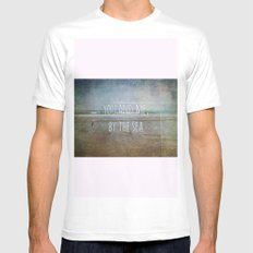 You and me, by the sea Mens Fitted Tee White MEDIUM