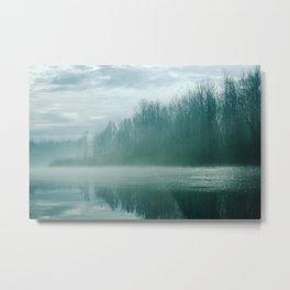 Blue River Mist Metal Print
