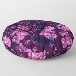 Dark Orchids Floor Pillow