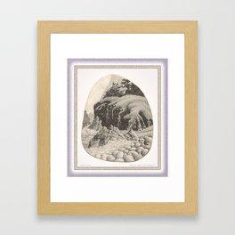 WILDERNESS SHORE VINTAGE CHARCOAL DRAWING Framed Art Print