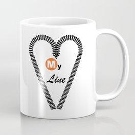 Heart My Line Coffee Mug