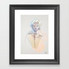 Oneline Hell blazer: J. Constantine Framed Art Print
