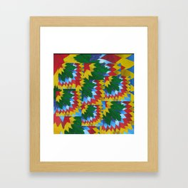 collage of math book paper painted leaves  Framed Art Print