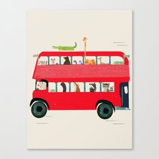 The big red bus Canvas Print