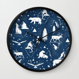 Arctic Circle - Blue Wall Clock