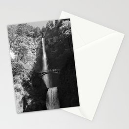 Multnomah Falls Oregon Waterfall Black and White Stationery Cards