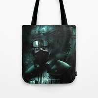 kakashi Tote Bags featuring Kakashi of the sharingan  by Shibuz4