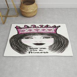 Kiss Me I'm a Princess Rug