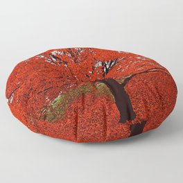 TREES RED Floor Pillow