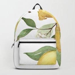 Watercolor Lemons - Yellow Lemons On Branch Backpack
