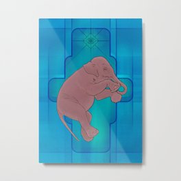 Astral Elephant Metal Print