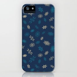 Beautiful Christmas Snow Flakes Patterns iPhone Case