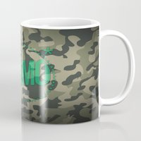 camo Mugs featuring Camo by GabrieleCigna
