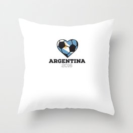 Argentina Soccer Shirt 2016 Throw Pillow