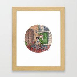 Strolling Framed Art Print