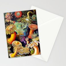 Under the Sea : Sea Anemones (Actiniae) by Ernst Haeckel Stationery Cards