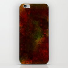 Dark red hearts abstract design iPhone & iPod Skin
