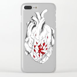 please, could you break my heart? Clear iPhone Case