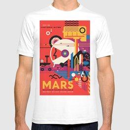 NASA Mars Exploration Program Multiple Tours Available; JPL Visions of the Future Poster T-shirt