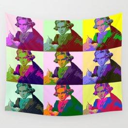 Ludwig Van Beethoven Pop Art Wall Tapestry