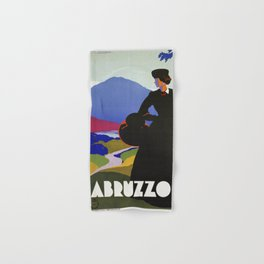 Abruzzo Italian travel Lady on a walk Hand & Bath Towel